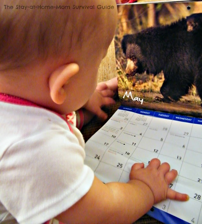 Use a calendar for learning numbers and the images for a fun activity for multiple age groups.