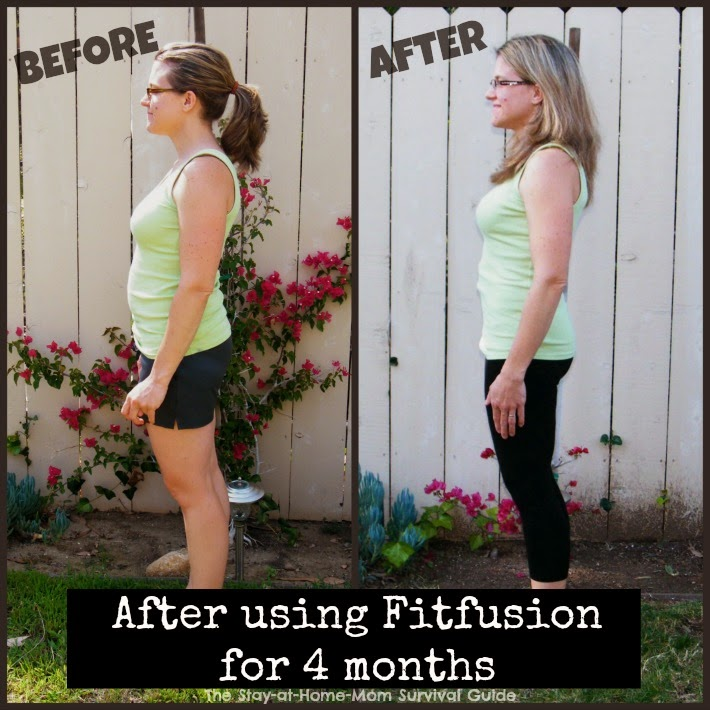 When starting a workout program, take a before picture and another after 3-4 months to see your progress. Check out a review of Fitfusion at The Stay-at-Home-Mom Survival Guide.