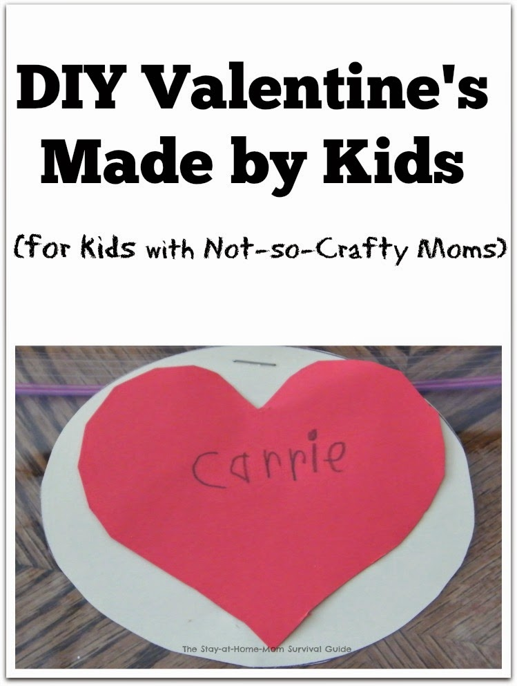 Homemade Valentine's Made by Kids (with Not-so-Crafty Moms!)