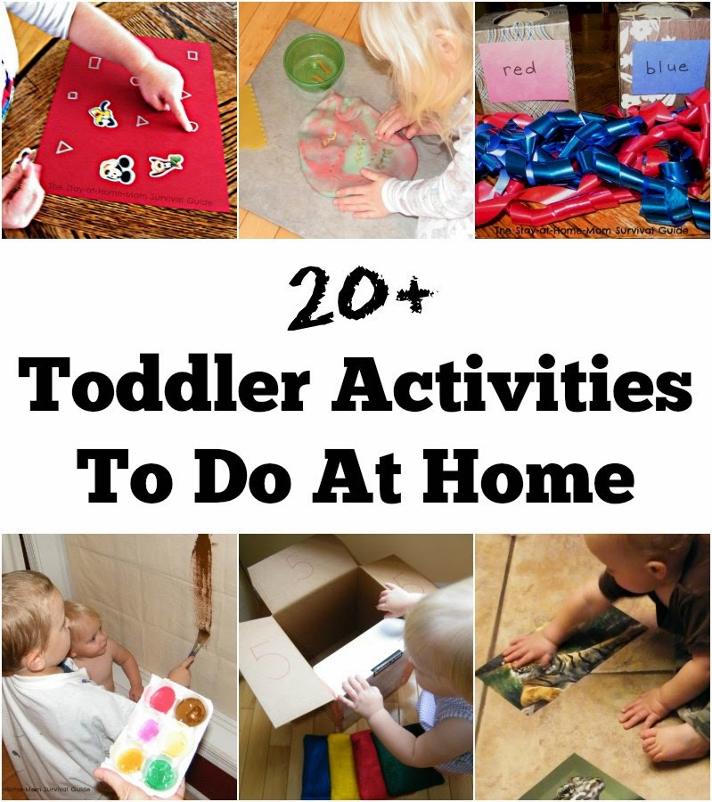 20+ Toddler Activities to do at Home