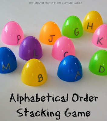 Easter Egg Alphabet Order Game for Preschool