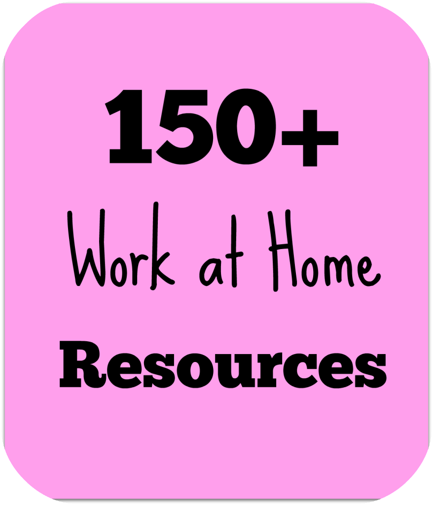 Over 150 work at home jobs and resources compiled for your convenience as part of the Complete Guide for Stay-at-Home Moms series.