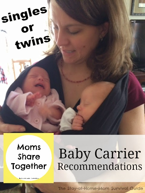 Baby carrier recommendations from moms of single babies and twins.