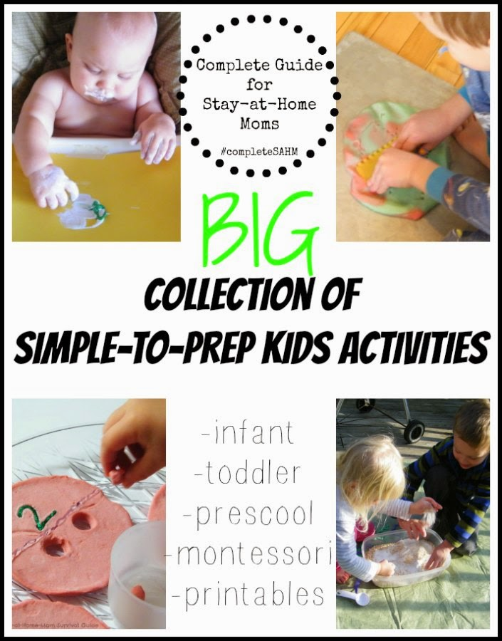BIG collection of kids activities for infants, toddlers, preschool and mixed age groups including montessori activities and free printables.