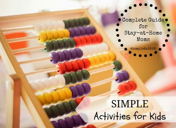 Hundreds of simple-to-prep kids activities for infants, toddlers, preschoolers; montessori activities, free printables for mixed age groups.