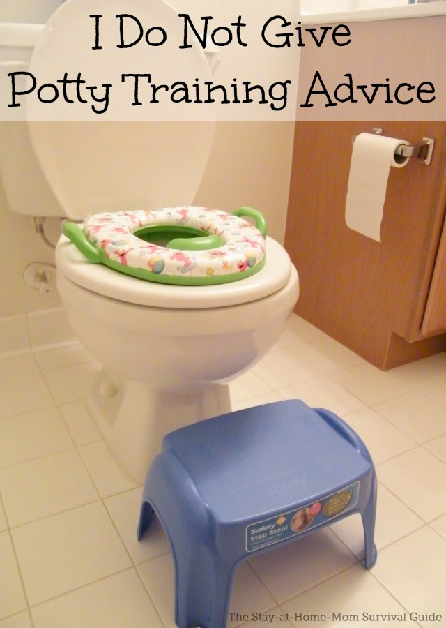 I Do Not Give Potty Training Advice