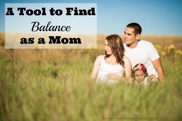 Have you found balance as a mom? Want a tip that works? This tool helped me track the time I was spending on all of my work around the house, and lets me really see where I spend most of my time. It's a great motivator to feeling accomplished and finding balance each day as a mom.