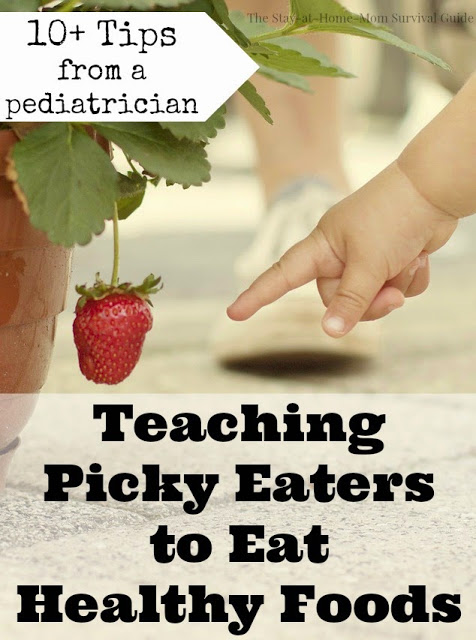 Dealing with picky eaters can be frustrating, but here are over 10 tips for each age group that will help. Tips are from a pediatrician, and the post is written by a mom with picky eaters. Good thoughts for long-term healthy habits.
