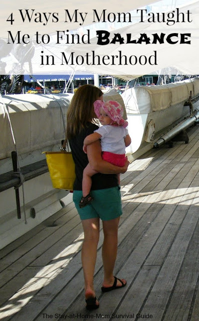 Have you found balance as a mom? These tips are what my mom taught me when she was a full time mom and a part time nurse working nights. She was super mom but not because she was perfect-for the lessons she taught me. about finding balance as a mom.