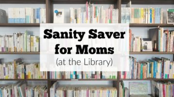 Sanity Saver for moms! Find it at the library of all places. #sponsored
