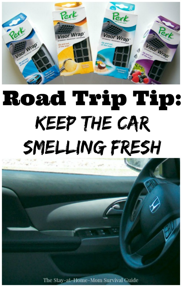 Road trips with kids can lead to strange smells! Keep the miles in the car more pleasant with this road trip tip to keep the car smelling fresh.