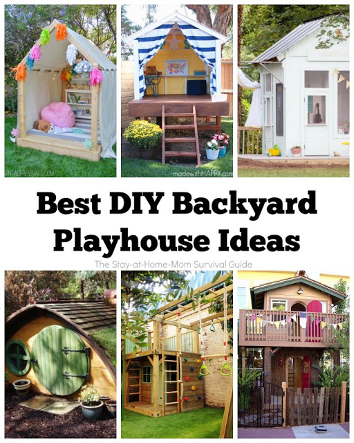 These are 6 of the most creative DIY playhouse ideas for the backyard! Kids will beg to play outside when they have these fun spaces for play and relaxing outside this Summer. A great resource!