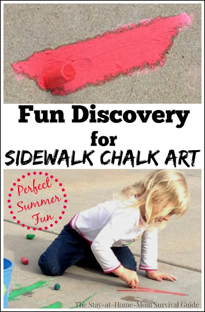 We thought our sidewalk chalk was ruined, but discovered this fun way to create vibrant chalk art outdoors!