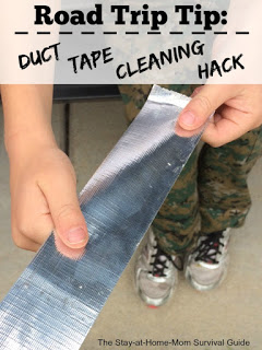 Road Trip Tip: Duct Tape Cleaning Hack