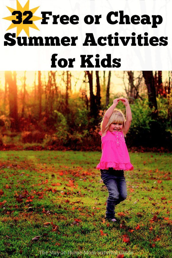 Check out this list of 32 free or cheap Summer activities for kids! From infants and toddlers to school age kids, you will find something on this list to check out this Summer.