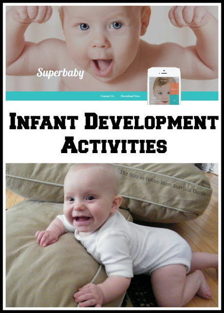 If you have an infant, this tool is a great resource with activity ideas for infants that are organized by age and developmentally appropriate. It's a great tool for moms and caregivers of babies.