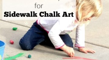 Fun Discovery for Sidewalk Chalk Art