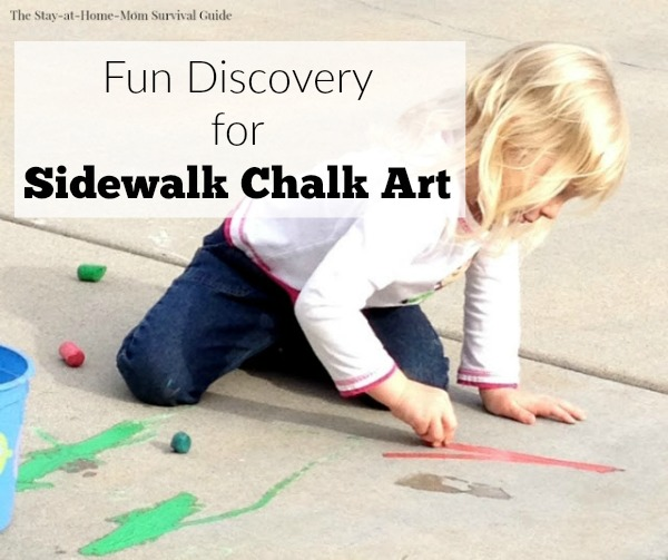 An accidental discovery led to some very vibrant sidewalk chalk art!
