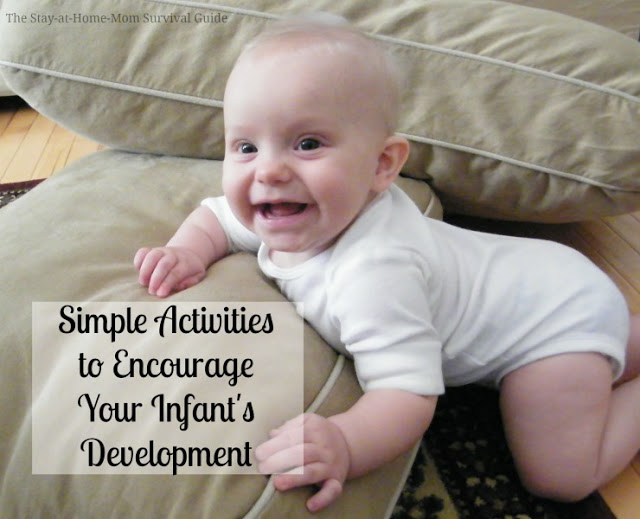 If you have an infant, this tool is a great resource of simple activity ideas for infants that are organized by age and developmentally appropriate. It's a great tool for moms and caregivers of babies.