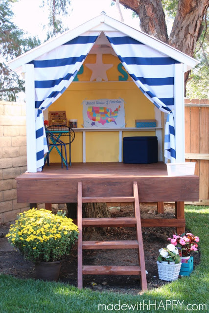 your house on stilts will be an instant backyard hit and your children probably wont notice the difference - Playhouse Designs And Ideas