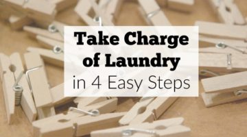 No more laundry burnout! Reduce the laundry stress with these 4 easy steps.