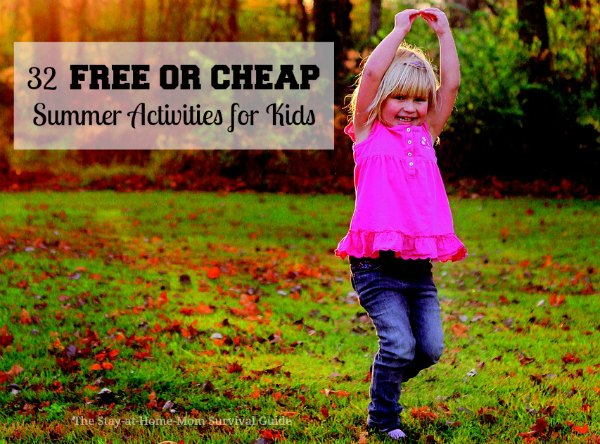 These 32 free or cheap activities for kids are so easy and relaxed. No stressful Summer schedule needed. These have been checked and all are still going on-no missing pages or dead links!