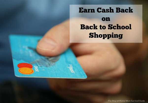 Earn cash back on back to school shopping. We have to get our kids ready anyway, might as well be frugal and find great deals for back to school clothes.