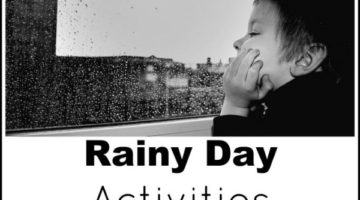 Stuck inside on a rainy or bad weather day? Check out this list of rainy day activities for kids from infants to toddlers, preschool to school age, boredom will stay away and parents' sanity will stay!