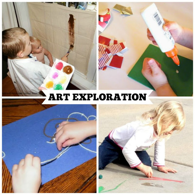 Activities for Preschool that teach art exploration skills. These are great preschool activities for at home learning.