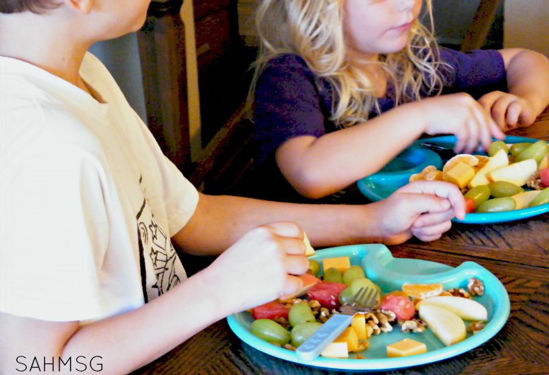 Number Salad counting activity and healthy snack for kids.