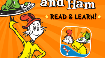 Dr Seuss books are now apps! Green Eggs and Ham was a fun one to review as part of our homeschool preschool curriculum.