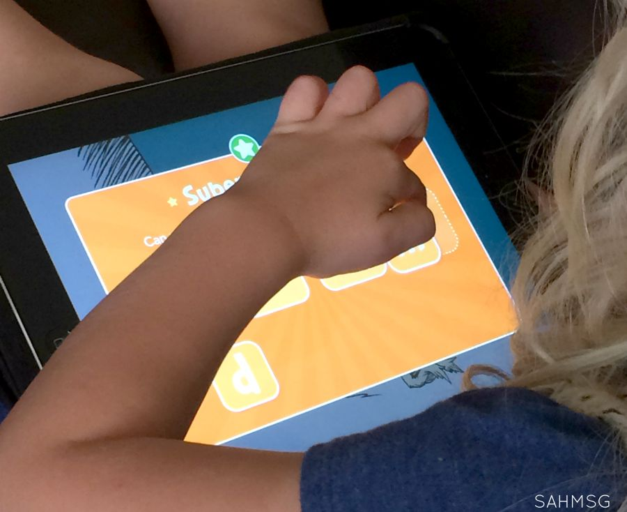 Preschool homeschool learning activities with the Green Eggs and Ham Dr Seuss learning app.