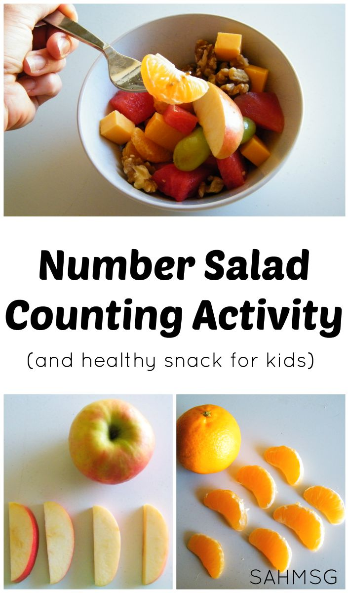 Counting Activity And Healthy Snack For Kids Make Number Salad Free Printable Recipe Cards