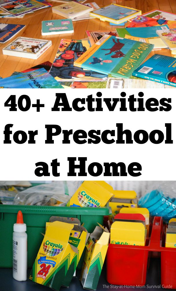 Activities For Preschool At Home The Stay At Home Mom