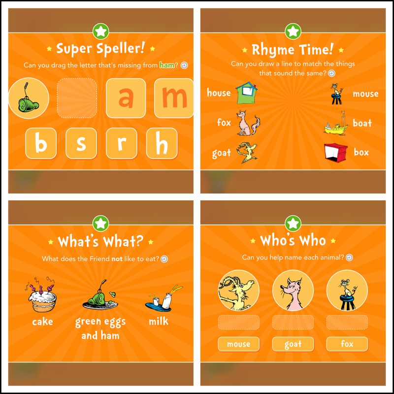 Green Eggs and Ham is an app! We love this as part of our homeschool preschool curriculum.
