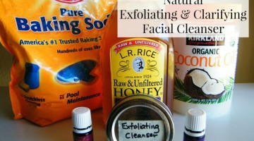 Make your own honey-based exfoliating cleanser with only 3 ingredients! There is a secret 4th ingredient that is optional!