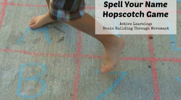 Spell Your Name Hopscotch Game: Active Learning Series