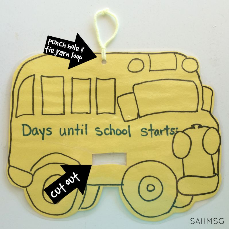 Countdown to the first day of school with a back to school countdown activity!