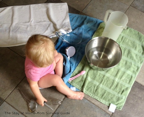 Tips and ideas for setting up water play indoors for all ages.
