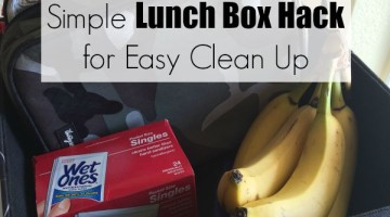 Lunch Box Hack for Easy Clean Up