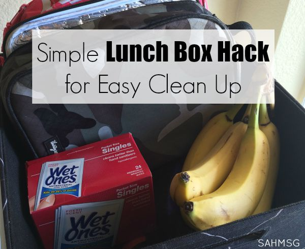 This simple lunch box hack for easy clean up has helped my son have a simpler lunch time at school, and helps me when he gets home from not having to clean up so many lunch box spills.