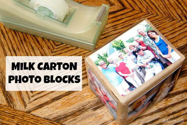 DIY Milk Carton Photo Blocks