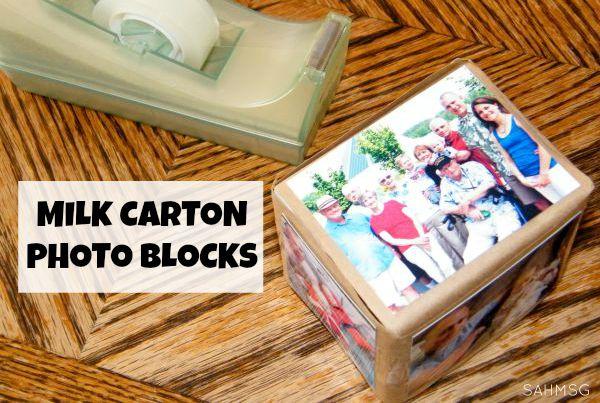 DIY Milk Carton Photo Blocks