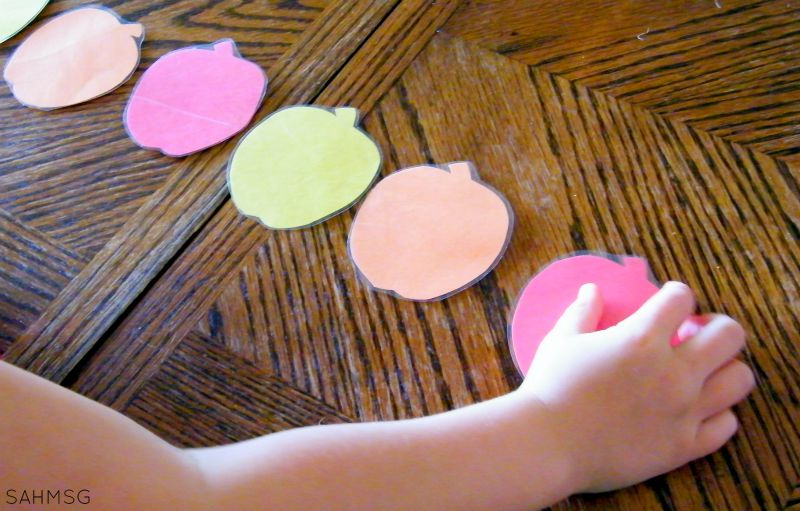 Apple patterning activities with free printable patterns.