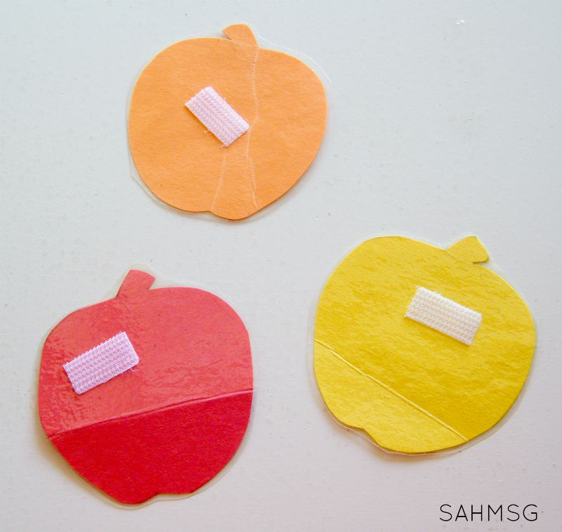 Apple Color Sorting for Toddlers.