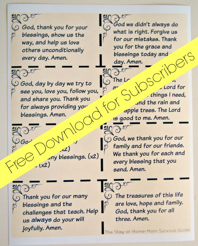 graphic about Printable Survival Cards known as Education Small children toward Be Grateful Cost-free Printable The Are living