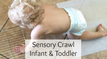 Sensory Crawl Infant and Toddler Activity {Huggies Little Movers}
