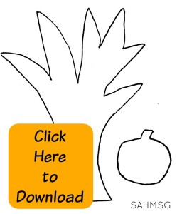 Free printable tree and apple pattern for Fall themed activities for toddlers and preschool.