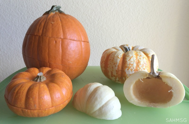 Homemade pumpkin puzzles for preschool activities this Fall.