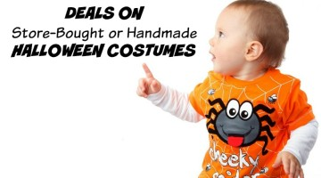 Deals on Store-Bought or Homemade Halloween Costumes for Kids